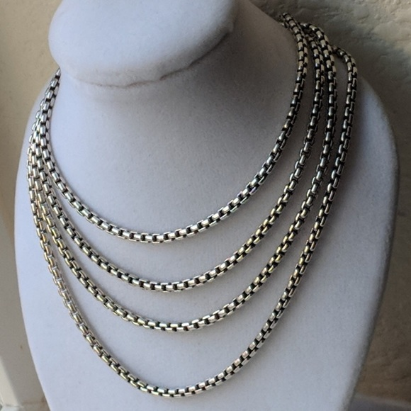 077901f5a9c David Yurman Jewelry - DAVID YURMAN 3.6MM WIDE BOX CHAIN STERLING SILVER